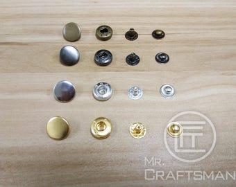 15mm Brass Snap Button x 30Set (831)