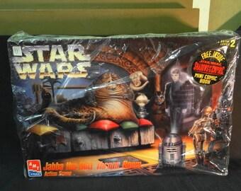 1995 Star Wars Jabba the Hutt Throne Room Action Scene Kit