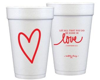Foam Cups | Love Scripture (red)