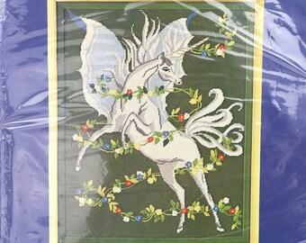Vintage Winged Unicorn Needlepoint Kit