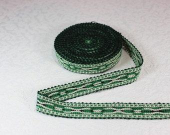 Woven Trim (6 yards), Woven Border, Cotton Ribbon, Grosgrain Ribbon, Dress Border, Border Trim, T12 (R152)