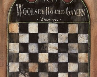 Game Board Wall Decor,Vintage Game Board,12x18,Family That Plays Together,Wooden Art Plaque,Pam Britton