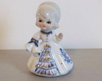 Vintage Delft Blue Dutch  Girl Figurine French Parisian Delftware Blue And White Decor Object Dutch Design Souvenirs Vintage Gifts  Ceramics