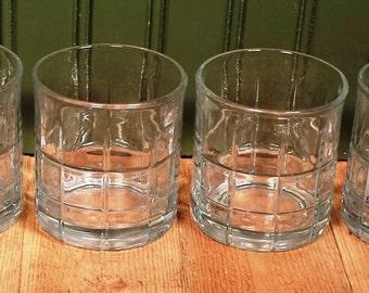 Set of Four Vintage SoHo Style Rocks Glasses
