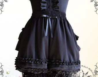 Gothic Vintage Victorian SteamPunk Fashion Tiered Bustle Ruffle Bloomers Shorts