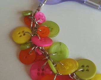 Neon Button Scissor Fob