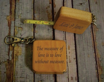 The Measure of Love is to Love without Measure Personalized 3 Foot Tape Measure with Key Chain