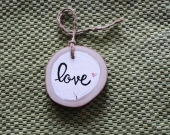 Woodslice Love Ornament