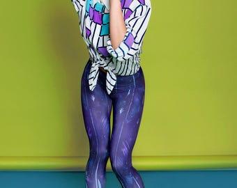 Feather Leggings, yoga leggings, printed leggings, boho leggings, yoga tights, patterned leggings, bohemian pants, spiritual clothing