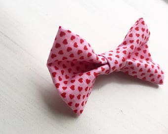 Valentines Bow Tie, girls bow, boys bow tie, kids bow, baby bow