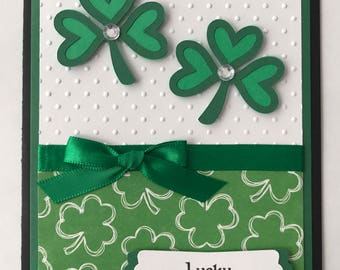 Handmade St. Patrick's Day Card, Shamrock, St. Patty's