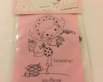 One unmounted rubber stamp