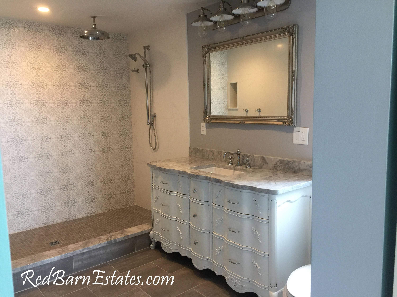 ceramic with cabinet vanity sink open bathroom latoscana