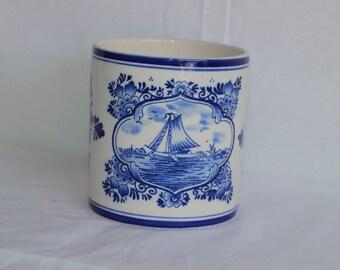 Vintage Blue Delft Container