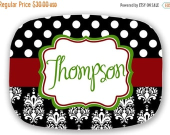 Memorial Day Sale personalized melamine platter - Christmas custom tray