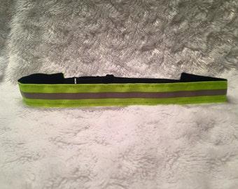 Flourescent Green Reflective Runner's Non-slip Adjustable Headband