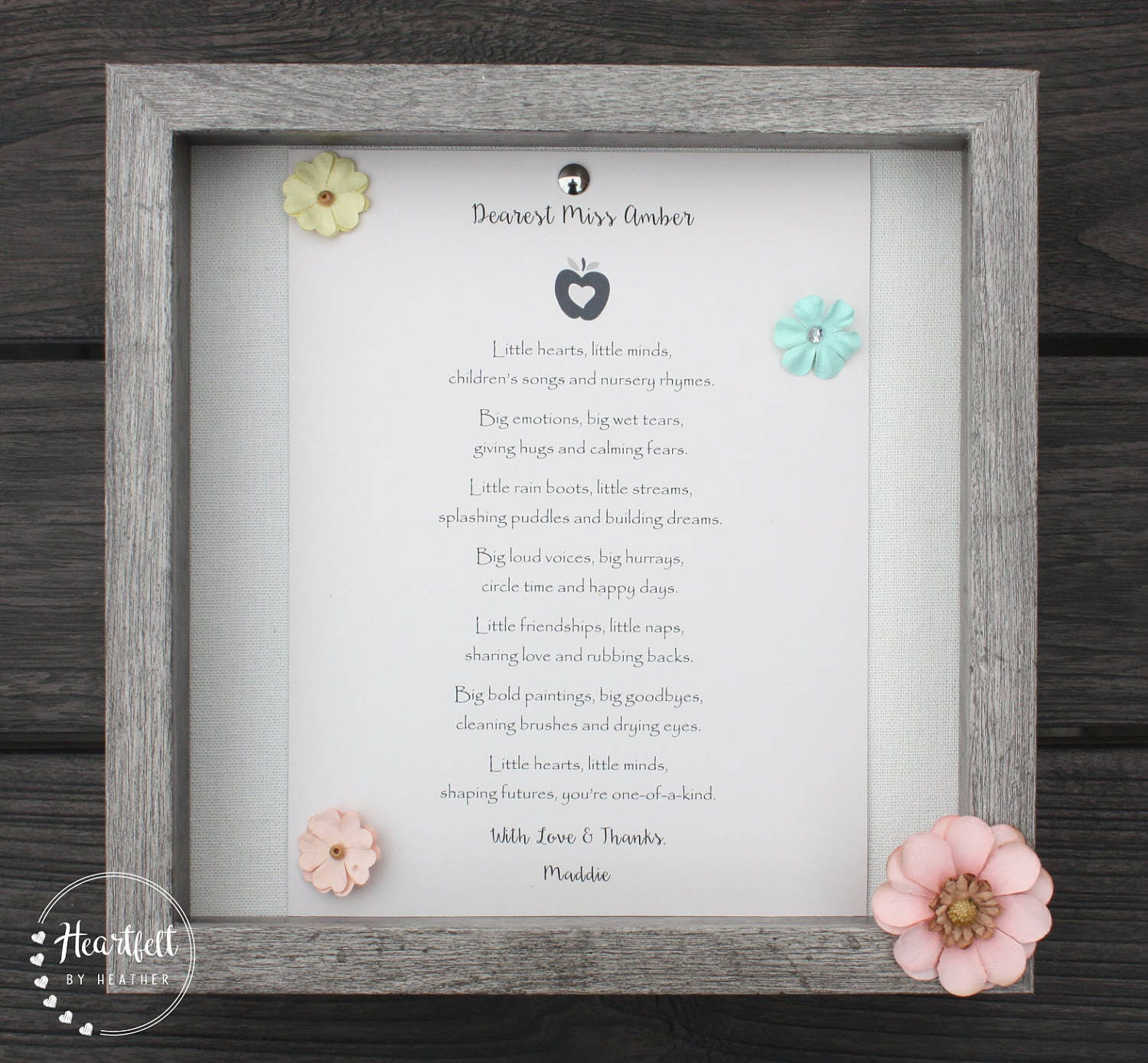 Preschool Teacher Thank You Gift Daycare Provider Poem ...