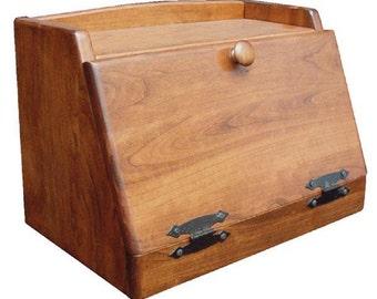 Solid Wood Bread Box (Cherry)