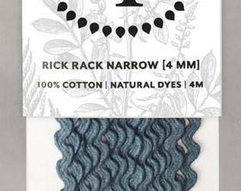 Naturally Dyed 4mm Rick Rack-Indigo