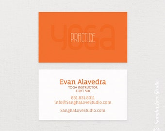 Yoga business card etsy more colors practice yoga business card or colourmoves
