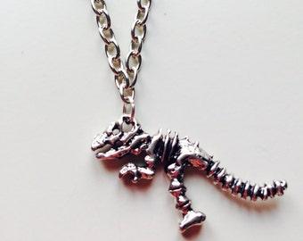 Sale | Dinosaur | T-Rex | Jurassic World | Jurassic Park | Fossil | Skeleton | Necklace