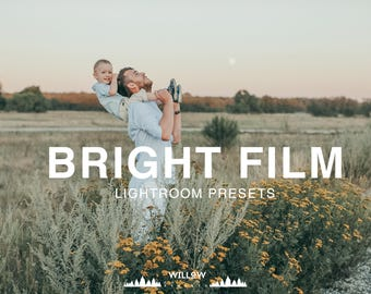Bright Film Lightroom Presets for Portrait, Wedding, Product, Outdoor, Studio, Newborn Filter to achieve dreamy Photo Editing Results