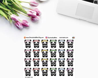 Amanda The Panda ~ The KARATE KID ~ Planner Stickers CAM PaNDA 030