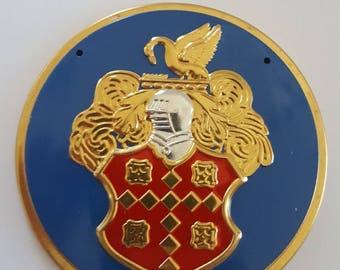 "Vintage 1955 Wheaties Cereal premium embossed car badge, tin, advertising Packard Automobile measures 3 7/16"""