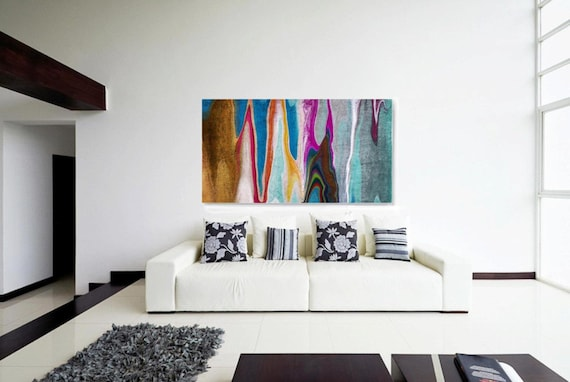 """4599X9 Abstract Rhythms NO 36. Abstract Paintings Art, Wall Decor, Extra Large Abstract Colorful Canvas Art Print up to 72"""" by Irena Orlov"""