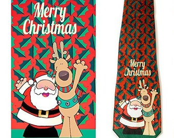 Stonehouse Collection Men's Christmas Tie - Fun Merry Christmas Necktie - 26033