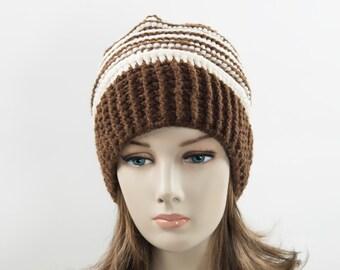 Handmade crochet women's beanie hat