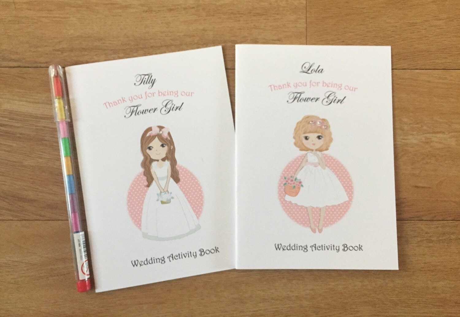 A6 Personalised Flower Girl Wedding Activity Pack, Colouring Book ...