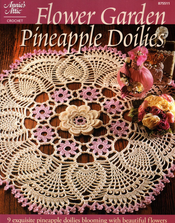 Flower Garden PINEAPPLE DOILIES - 9 Thread Crochet Doily Patterns ...
