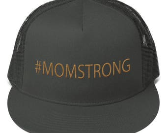 Cap. #MOMSTRONG Snapback Hat. Trucker Hat. Cape