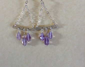 Amethyst chandelier etsy amethyst chandelier earrings mozeypictures Gallery