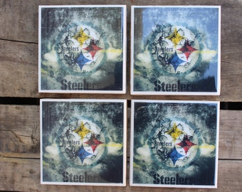 Pittsburgh Steelers coaster set