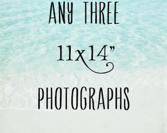 DISCOUNT Set of 3 11x14 Photos, Three Prints Your Choice Sale, You Pick Create a Gallery Trio of Images Photography Decor, Any Room Wall Art