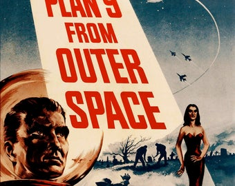 Plan 9 from Outer Space - retro horror movie print 11x17