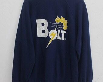 20% Off Vintage Lightning Bolt Sweatshirt Street wear Lightning Bolt surf surfur Lightning Bolt skate hip hop Street Wear SIze L