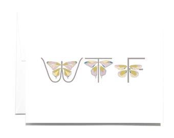 Greeting Card Butterflies WTF