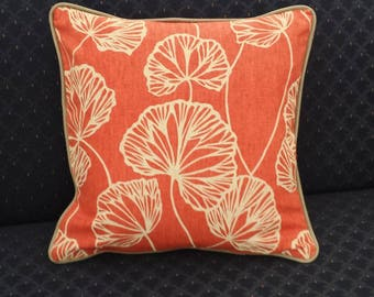 Abstract Leaf Accent Pillow Cover