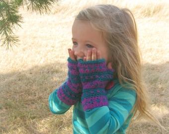 Fingerless Gloves | Crochet Arm Warmers | Kids Fingerless Mittens | Texting Gloves | Crochet Gloves | Gift for Her | Christmas Gift