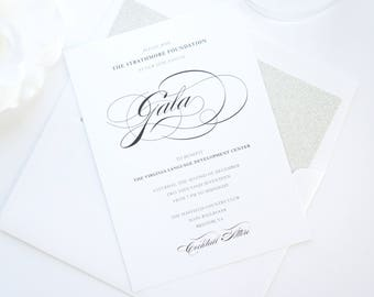 Corporate Gala Invitation, Company Event Invitation, Corporate Dinner, Fundraiser, Charity, Awards Dinner- Color Customize!