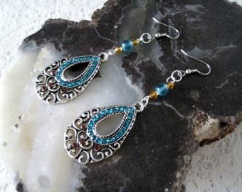 Moroccan Earrings, moroccan jewelry boho jewelry gypsy jewelry bohemian jewelry hipster jewelry tribal fusion hippie  bohemian earrings