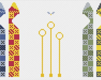 Quidditch Pitch Cross Stitch Pattern