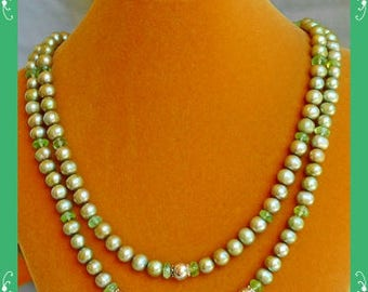 Green Pearl Necklace 01