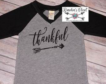 Thankful Raglan. Infant, Toddler, Youth, and Adult Sizes.