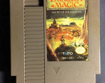 Dungeon Magic Nintendo NES Video Game NA Version Cartridge Only From 1990