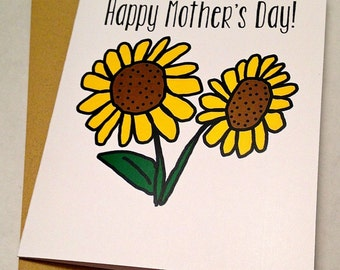 Mother's Day Card - Sunflower Card - Sunflowers
