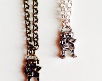 Robot | Tin Man | Cute | Retro | Emo | Necklace